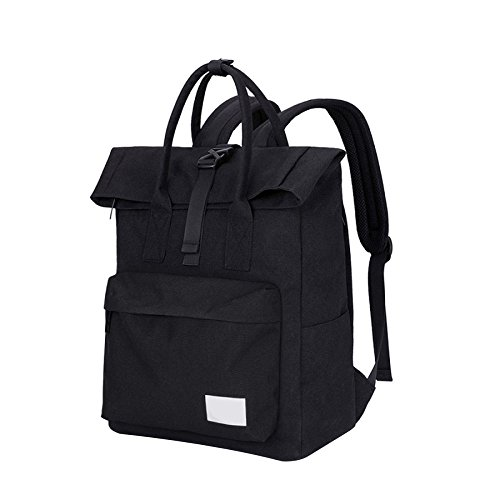 Men Dhfud Student Casual Backpack Shoulder Fresh Fashion Bag Travel Black ffHwqxB