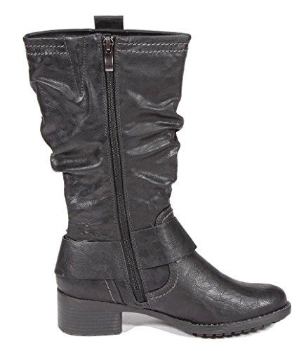 Marco Tozzi Damen Stiefel schwarz