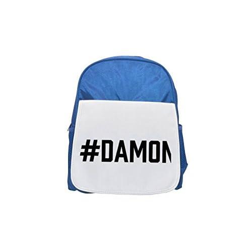 # Damon impreso Kid 's azul mochila, para mochilas, cute small Mochilas, cute negro mochila, Cool mochila negra, moda mochilas, Gran moda mochilas, negro moda mochila