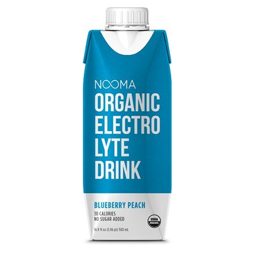 NOOMA Organic Electrolyte Drink, Blueberry Peach, 16.89 Fluid Ounce (Pack of 12)
