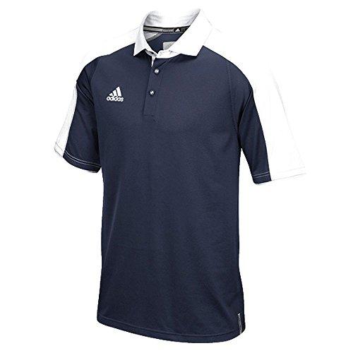 Adidas Heren Climalite Modern Varsity Polo Marine-wit
