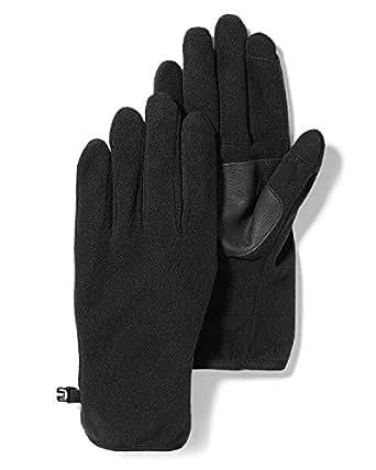 Eddie Bauer Mens Quest Fleece Gloves, Black Regular S/M