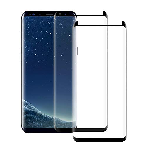[2-Pack] Galaxy S8 Screen Protector,WZS [9H Hardness][Anti-Fingerprint][Ultra-Clear][Bubble Free] Tempered Glass Screen Protector Compatible with Samsung Galaxy S8