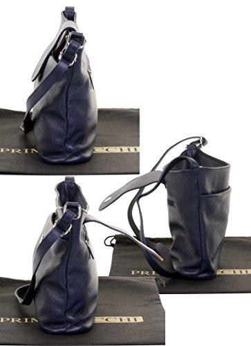 Regolabile Borsa Completamente In Strap Pelle Strutturato Spalla Italiano Ladies Classica Primo Blu Crossbody Navy Sacchi® nxqvPw0