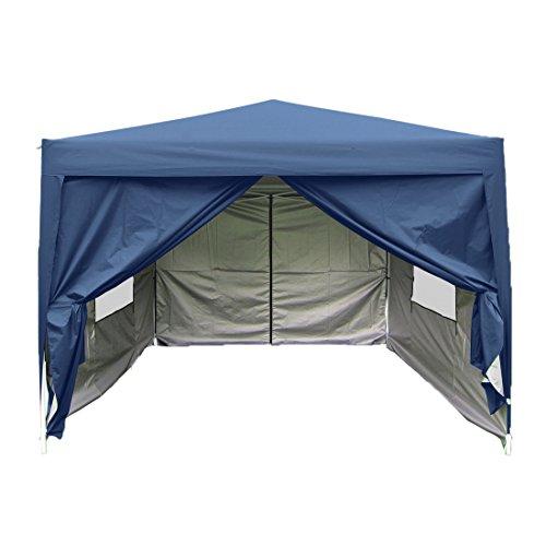 Quictent privacy 10x10 Mesh Curtain EZ Pop Up Party Tent Navy Blue Canopy Gazebo 100% Waterproof (Blue Gazebo)