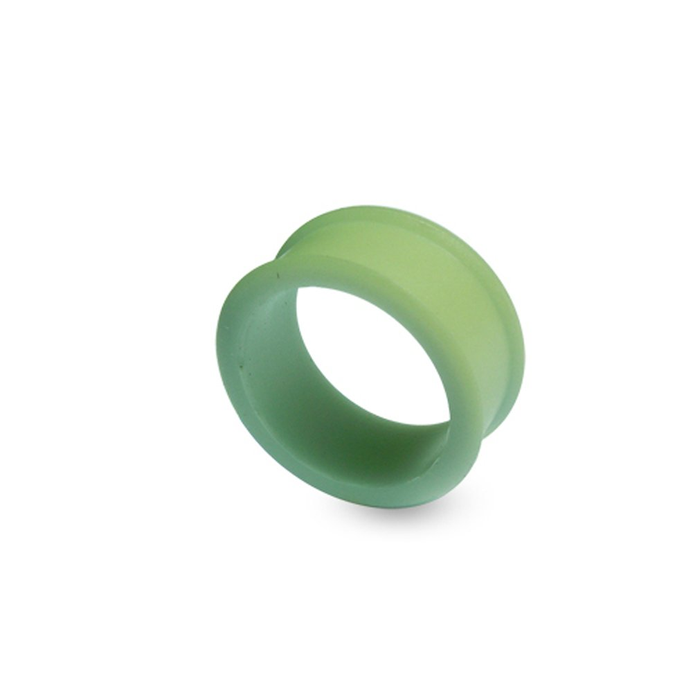 6MM Color Changing to Green Exclusive Silicon Ear Plug Body jewelry