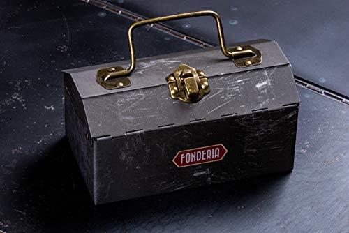 FONDERIA herrklocka STRAMLINER – vintageklocka rostfritt stål, italiensk design, datum, liten sekund
