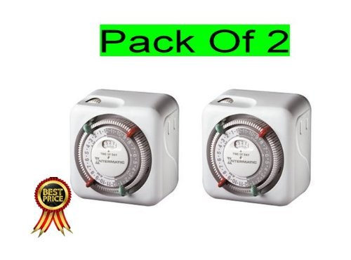 Intermatic TN311C 120 Volt Heavy Duty Grounded Timer (Set Of 2)