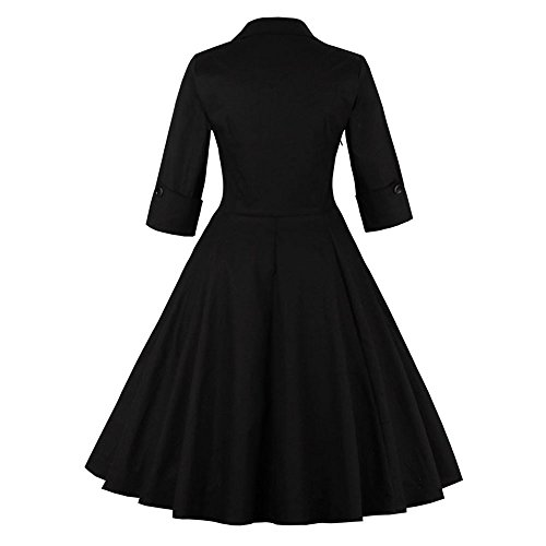 danse Temprament soire Vtements Black de vintage LILICAT intellectuel style Sleeve 5XL S rock de imprim Dress robe de 4Svpq
