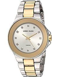 Women's AK/2755SVTT Diamond-Accented Two-Tone Bracelet Watch