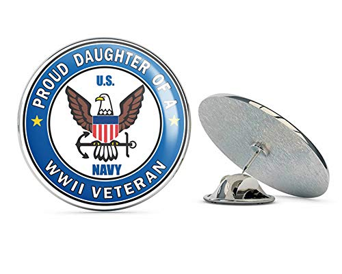 Proud Daughter of a US Navy World War II Veteran Steel Metal 0.75