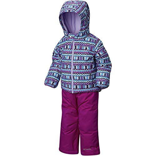 Columbia Kids & Baby Toddler Frosty Slope Set, Bright Plum Zigzag Print, 3T