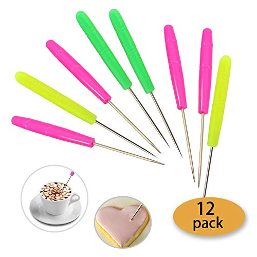 Hapy Shop 12 Pcs Scriber Needle Modelling Tool Set Marking Patterns DIY Baking Icing Sugarcraft Cookies Cake Decoration -