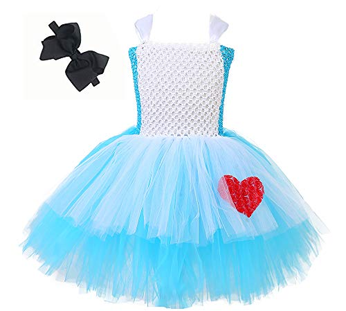 Tutu Dreams Alice in Wonderland Costumes for Girls Handmade Fluffy Tutu Dresses (L) -