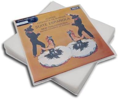 Vinyl Cover Sleeves 100 St/ück 12 Vinyl LP Schallplatten H/üllen Premium-Qualit/ät 100 Mikron Density Schutzh/üllen Polyethylen f/ür 1-3 Gatefold LPs UV-Best/ändig 323mm x 323mm