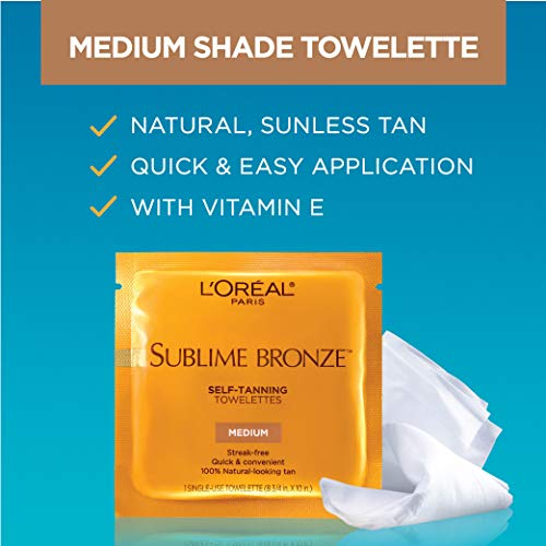 L'Oreal Paris Sublime Bronze Self-Tanning Towelettes In action