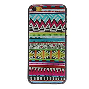 Colorful Serrated Figure Pattern Hard Case for iPhone 5C