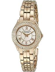Armitron Womens 75/5332RMRG Swarovski Crystal Accented Rose Gold-Tone Bracelet Watch