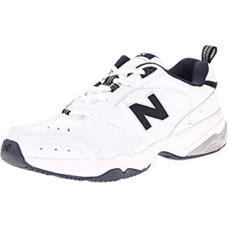 New Balance Men's 624 V2 Casual Comfort Cross Trainer, White/Navy, 20 M US
