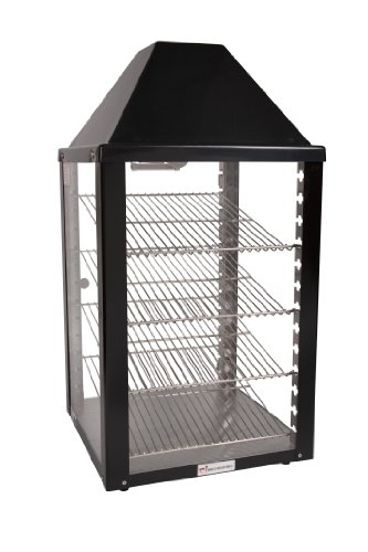 Wisco, 00690-25-2-001-BLK, Food Warming and Merchandising Cabinet, 2 Door Pass Thru, Black by Wisco