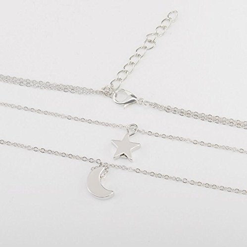Angel Double Star Moon Necklace Set