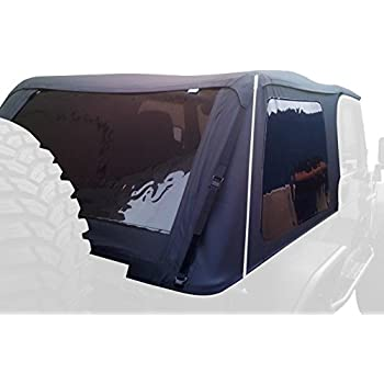 Rampage Products 109935 Black Frameless Soft Top Kit with Tinted Windows for Jeep Wrangler JK 2-Door