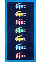 Lacoste Bayadere Beach Towel, Black by Lacoste