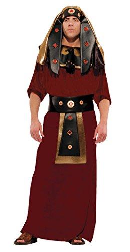 [Deluxe King Tut Egyptian Pharaoh Tutankhamen Costume- XL, Burgundy, No Hip Belt] (Xl Pharaoh Adult Costumes)
