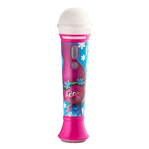 eKids Trolls Sing Along  MP3 Microphone with Built in Music and Connects to Any MP3 -