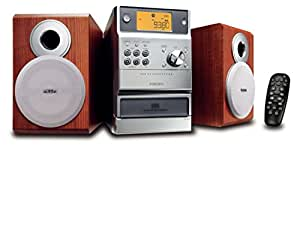 Philips MCM190 MP3 Micro Hi-Fi System - Microcadena (Mecánico, Auto Store, Naranja, LCD, Cinta, 20 channels)