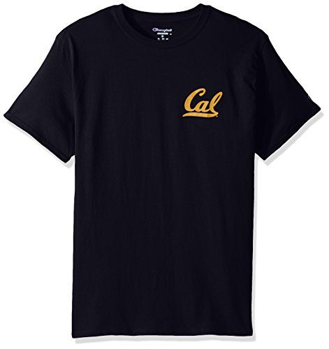 Champion NCAA Team Tagless Cotton Short Sleeve Front/Back Graphic Tee, California Golden Bears, ()