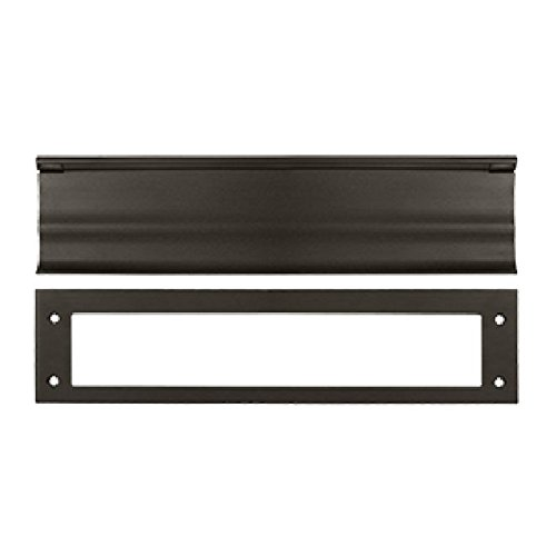 Deltana MS0030U10B HD 3-1/16-Inch x 13-Inch Solid Brass Mail Slot by Deltana