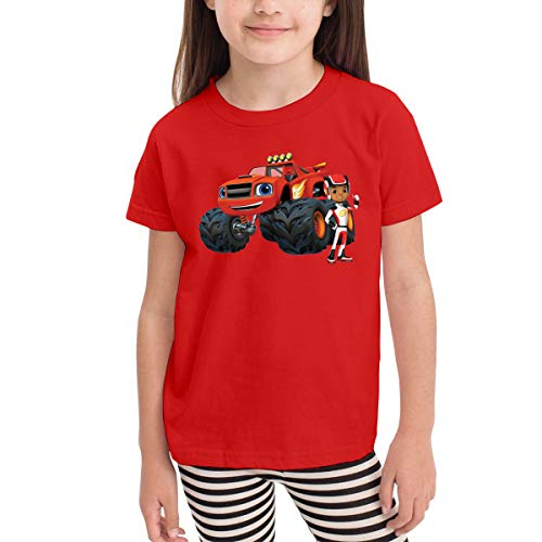 Rusuanjun Blaze and The Monster Machines Children's T-Shirt Red 4T Fun and Cute -