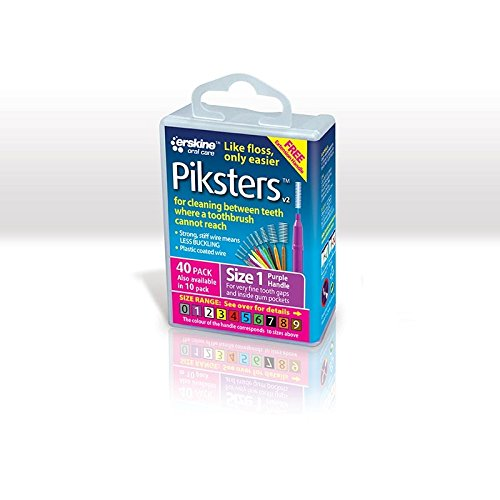 Piksters Size 1 Purple Interdental Brush - by PIKSTERS