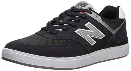 New Balance Men's 574 Skate Sneaker Black/Grey 10.5 D ()