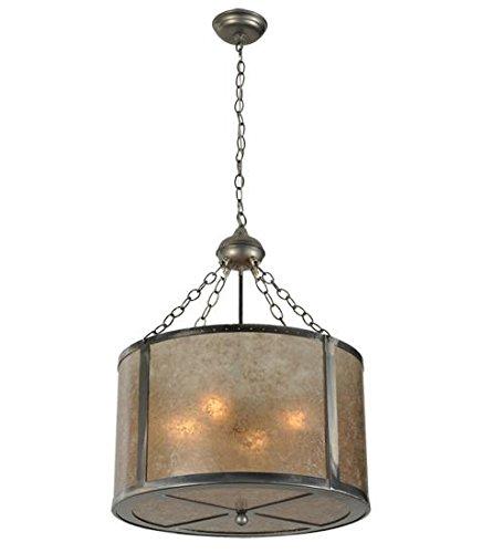 (Meyda Tiffany 68316 Smythe Craftsman Silver Mica Inverted Pendant, 20