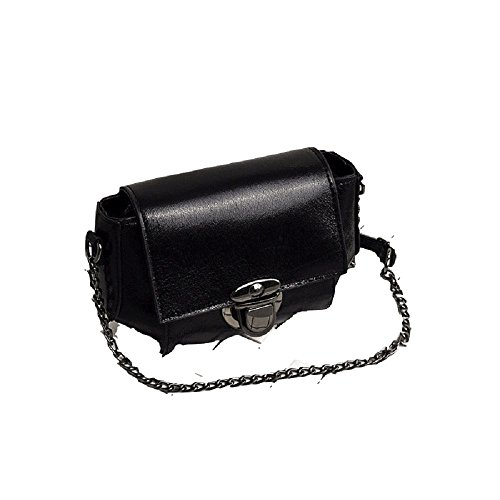épaule coréenne Bag Petit chaîne Simple Wild ZHRUI la Lock Version Sac carré Nouvelle Messenger de Noir Bag Fairy 4qEqz7x6w