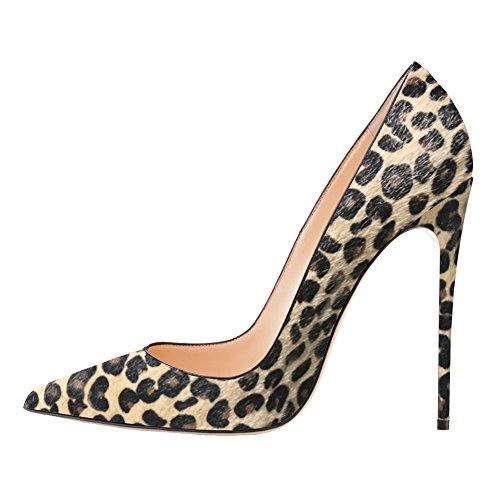 EKS - Zapatos de Tacón Mujer - leopardo