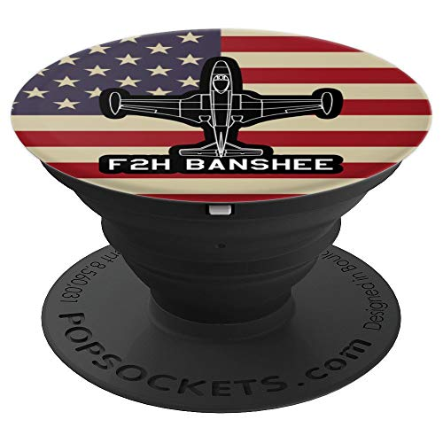 F2H Banshee Jet Fighter Plane Classic USA Warplane Gift PopSockets Grip and Stand for Phones and Tablets (Best Fighter Jet Game Iphone)