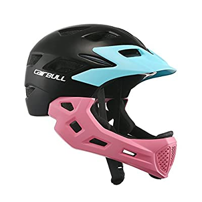 EDTara Kids Bicycle Helmet Full Face Helmet for Bike Motorcycle Children Safety Guard Sports Protective Equipment for Riding Skating : Sports & Outdoors