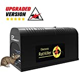 P PURNEAT Electronic Rat Traps, Mouse Rodent Traps Electronic,High Voltage Emitting,Effective Powerful Killer Rat,Squirrels Mice Similar Rodents【2018 Upgraded Humane Clean (Black, 1pack)