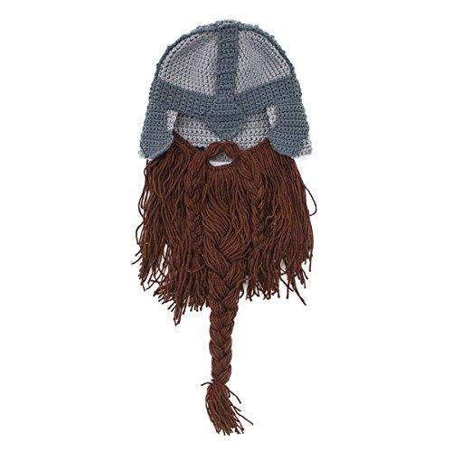 c9ec31d95c5 Beard Head - The Original Barbarian Warrior Knit Beard Hat - Import ...