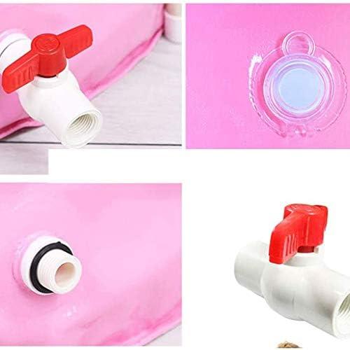 SBWFH ピンクバスタブ - ポータブルプラスチックバスタブ、折り畳み式のインフレータブル太い自立バスタブ