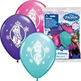 Frozen 12 Inch Happy Birthday Latex Balloons 6 Count