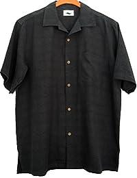 Mens Silk Camp Shirt Solid Hawaiian Casual Limited Editions Large