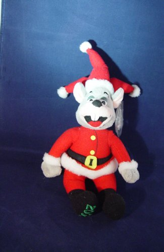 2008-chuck-e-cheese-limited-edition-santa-jester-stuffed-plush-mouse