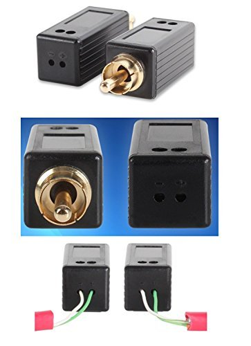 Amazon com: Digital Coax Audio extender over Cat5 balun set