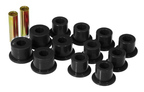 Prothane 14-1003-BL Black Rear Spring Eye and Shackle Bushing Kit