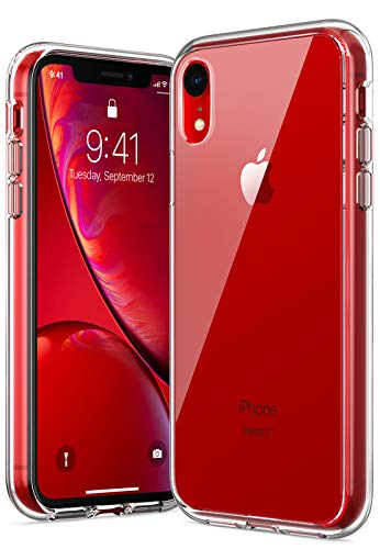 RANVOO iPhone XR case, iPhone XR Protective Clear Case [Certified Military Protection] [Agile Button] with Reinforced Soft TPU Bumper and Transparent Hard PC Back Case Cover