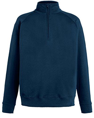 Sweatshirt 2xl Of Loom The 14 Couleurs Fruit Navy Deep Sml Lightweight taille Neck Zip xZYdnP